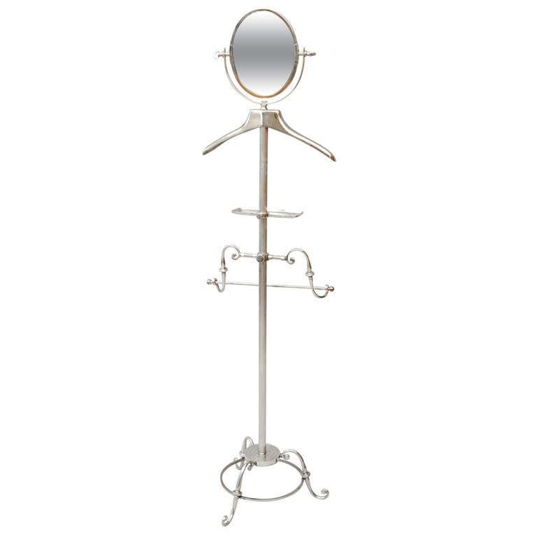 Nickel Plated Valet Stand By Glo Mar At 1stdibs