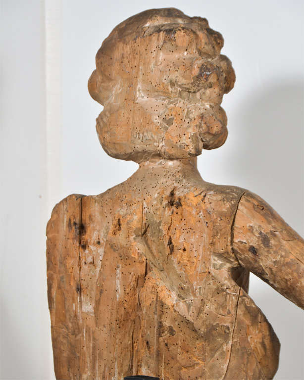 18th Century Carved Wooden Angel For Sale 2