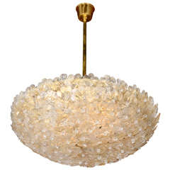 Floral Glass Chandelier by Barovier, Italian 1950s