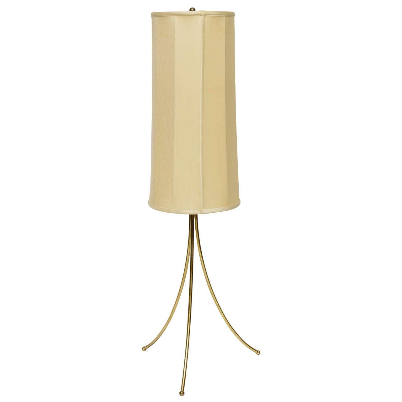Elegant modern 1950s edward alden brass floor lamp at 1stdibs for 1950s floor lamps