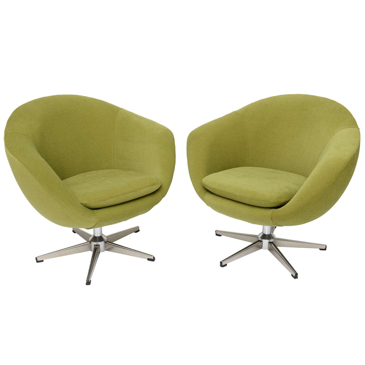 Classic swedish overman swivel egg chairs at 1stdibs - Second hand egg chair ...