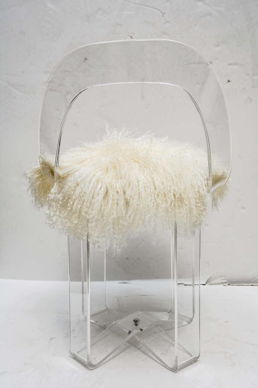 mid century modern acrylic vanity chair at 1stdibs