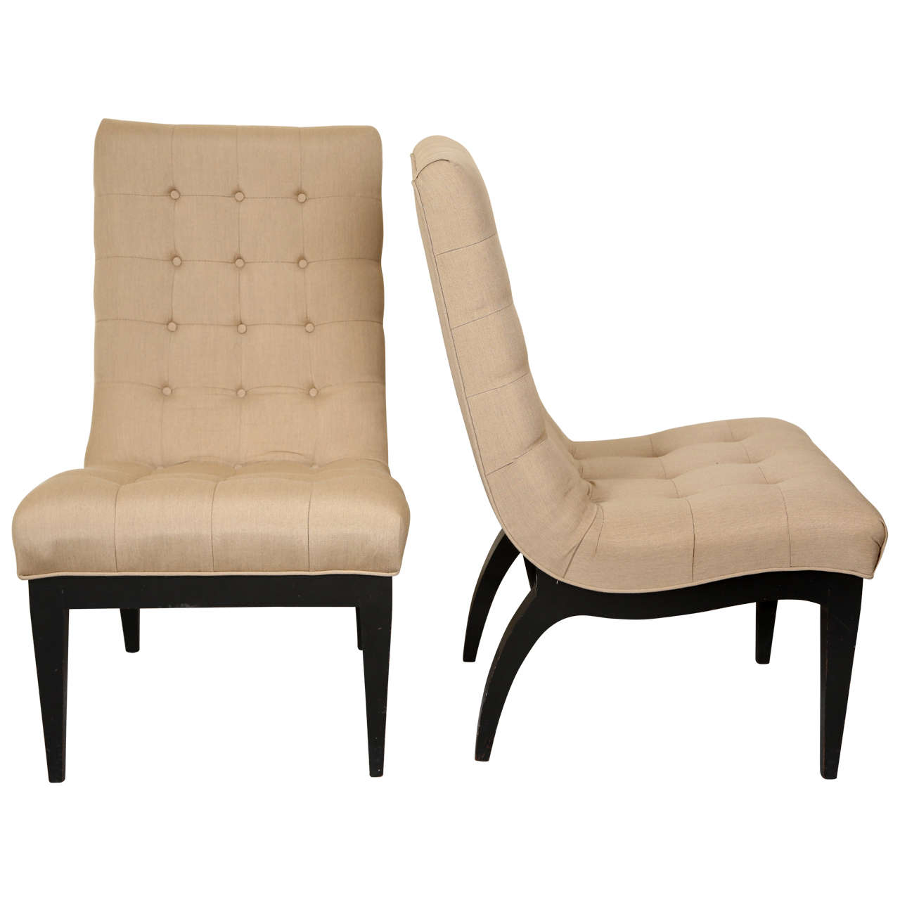 Pair of slipper chairs by james mont for sale at 1stdibs for Slipper chair