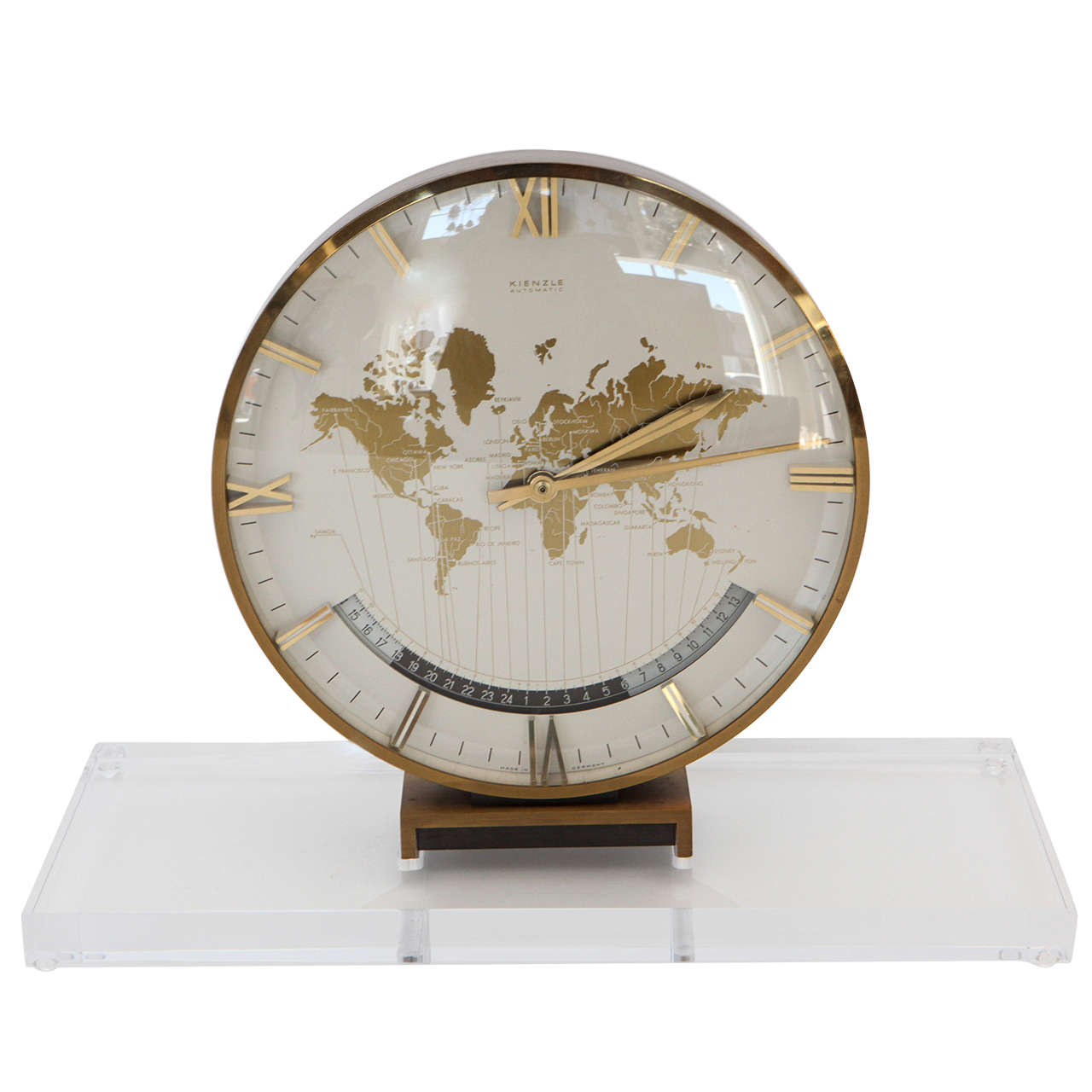 World Table Clock with Base, 1960s