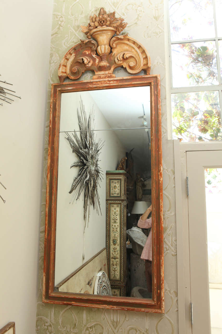 Pair of Large Italian 19th Century, Mirrors In Good Condition For Sale In Los Angeles, CA