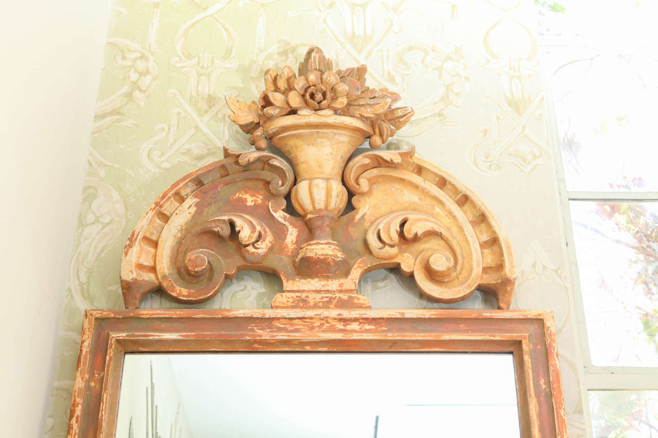 Pair of Large Italian 19th Century, Mirrors For Sale 1