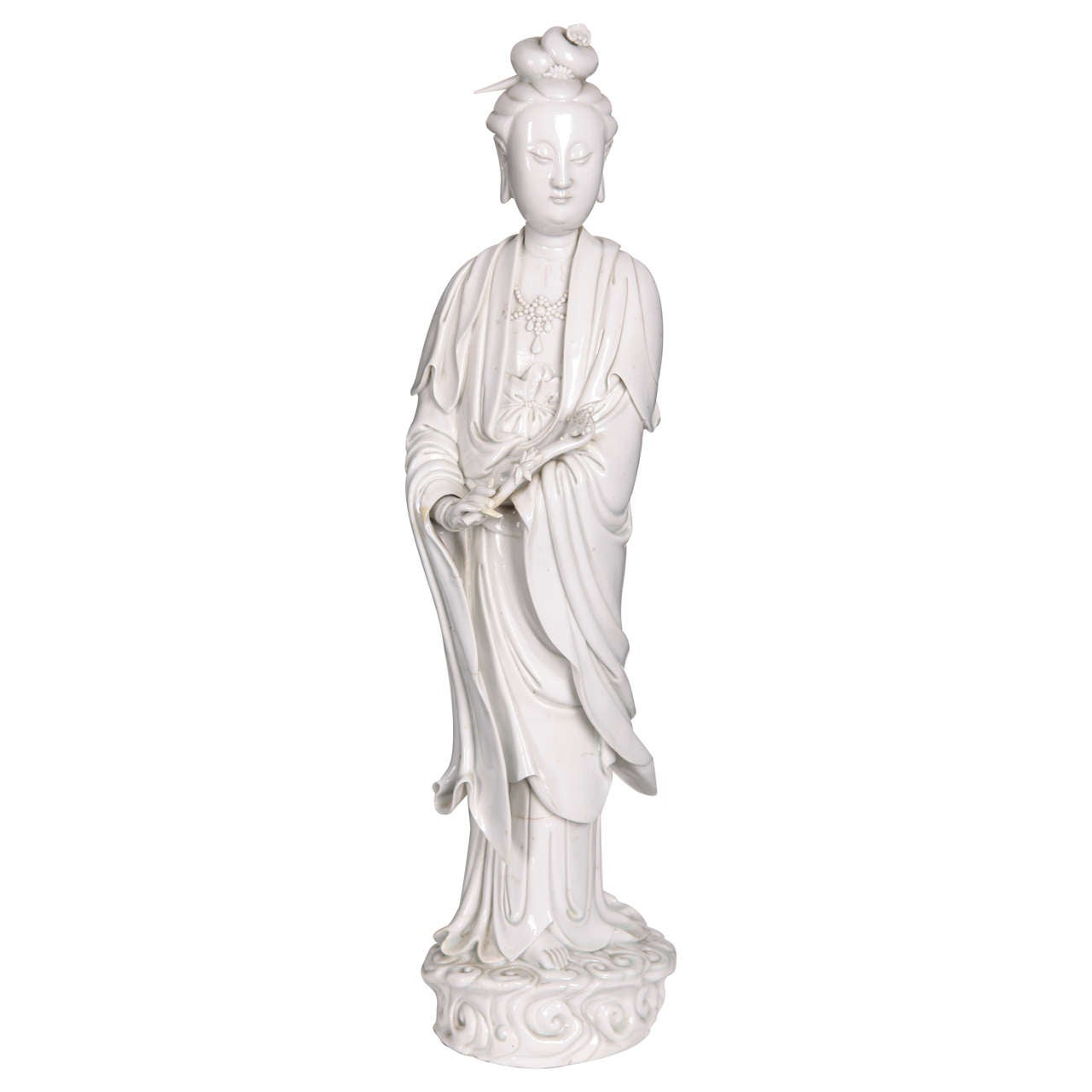 Blanc-de Chine Figure of Guanyin, Qing Dinasty
