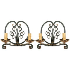 Pair of French Moderne Sconces
