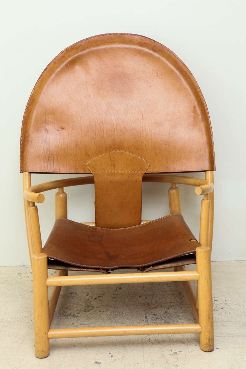 Mid-Century Modern Rare Hoop Chair by Børge Mogensen For Sale