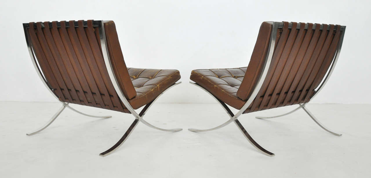ludwig mies van der rohe barcelona chairs at 1stdibs. Black Bedroom Furniture Sets. Home Design Ideas