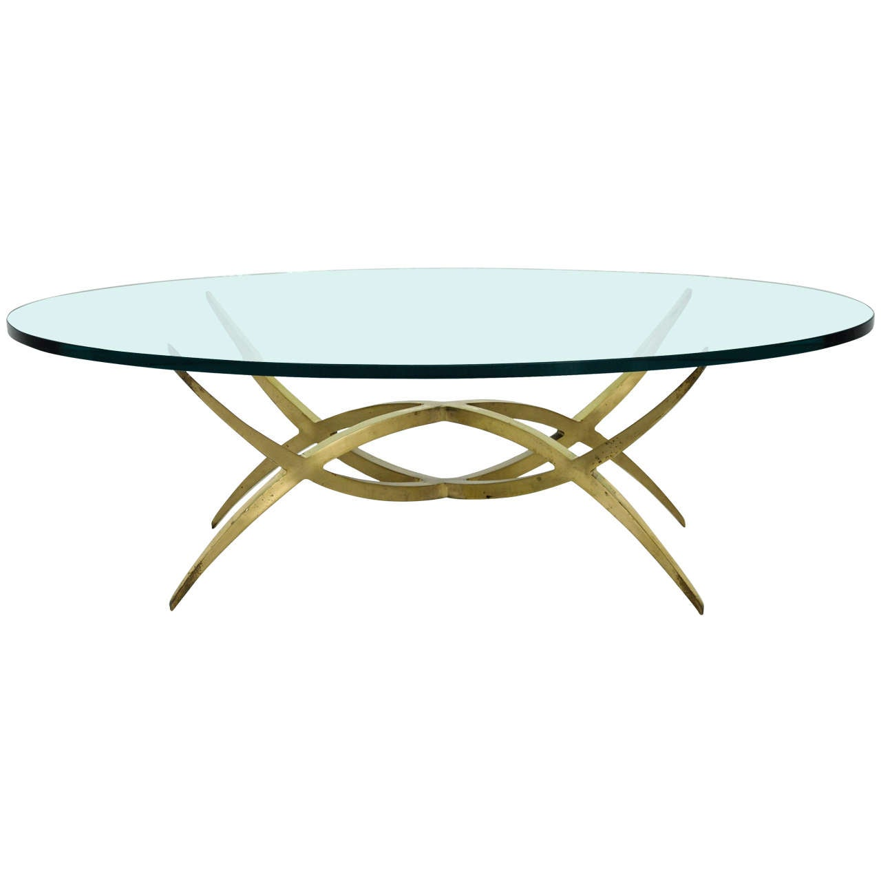 French sculptural bronze coffee table at 1stdibs Bronze coffee tables