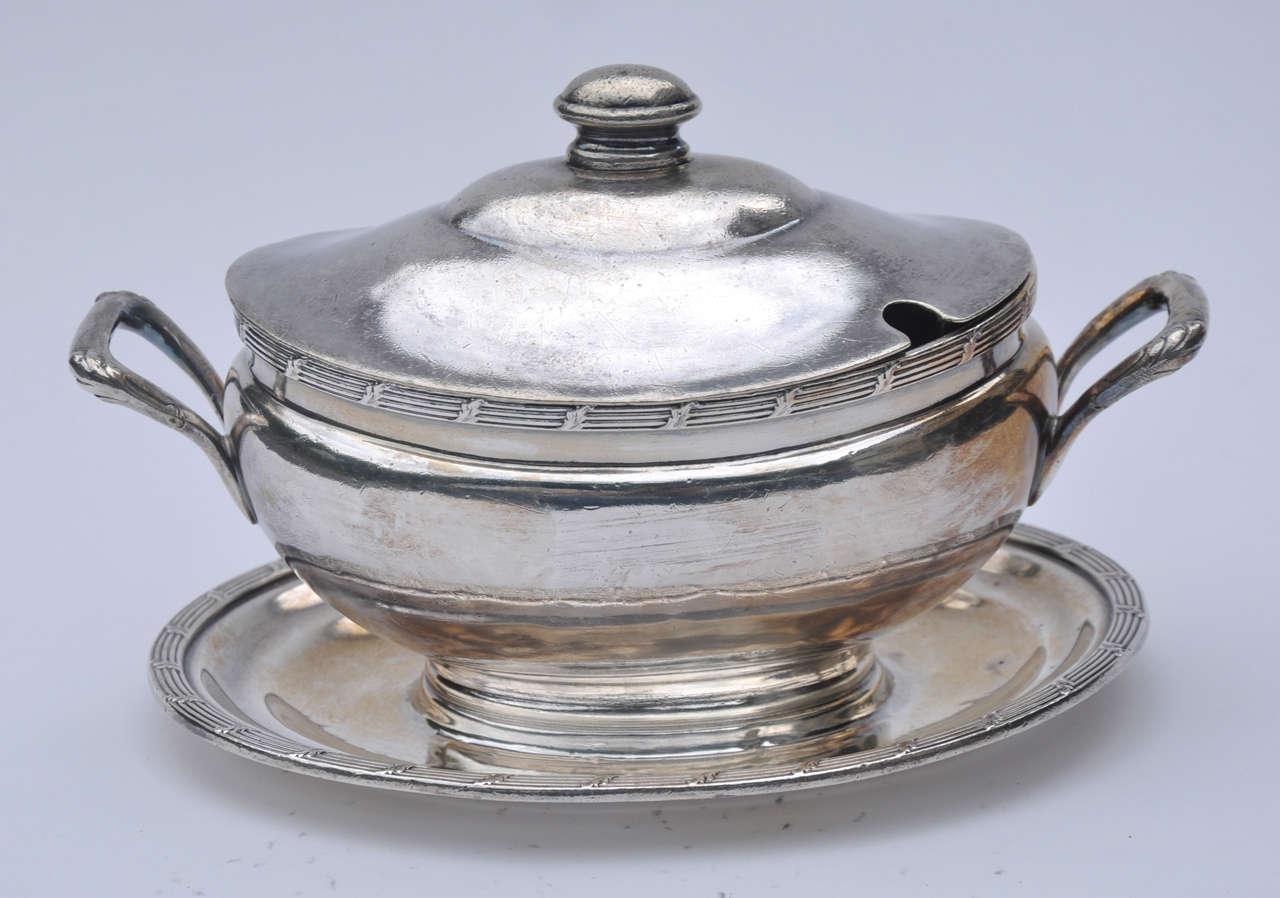 Union Pacific Railroad Silver Plate Soup Tureen American