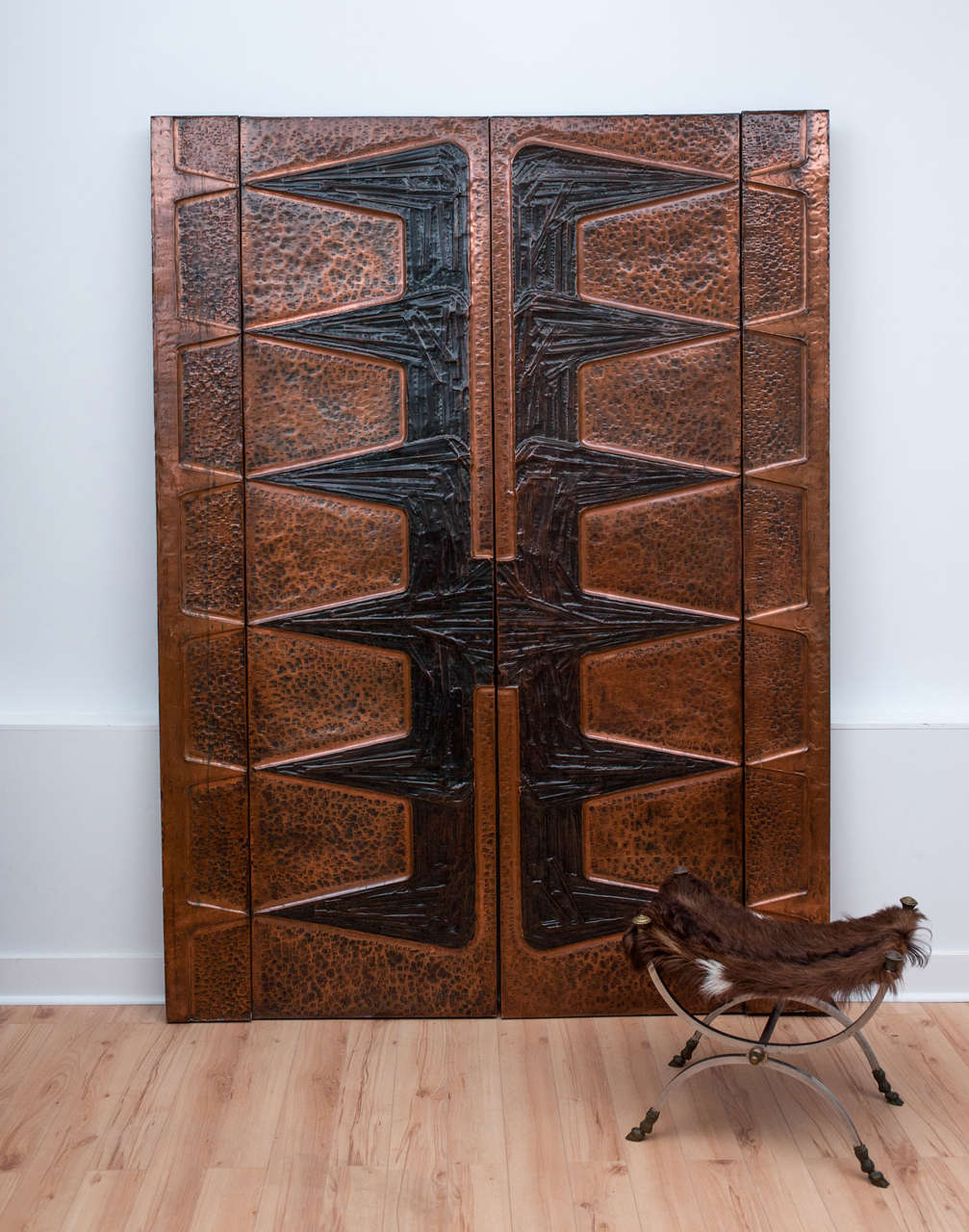 Pair Of Monumental Decorative Copper Wall Panels At 1stdibs
