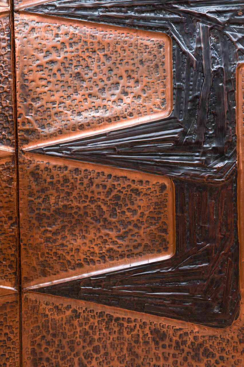 Copper Wall Cladding : Pair of monumental decorative copper wall panels at stdibs