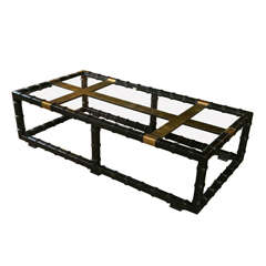 Black Faux Bamboo Coffee Table