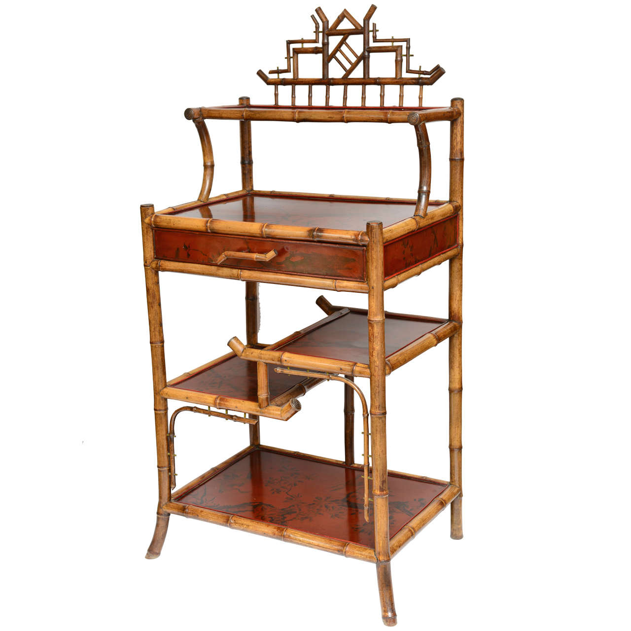 Rare 19th c english bamboo server and etagere at 1stdibs for Etagere japonaise