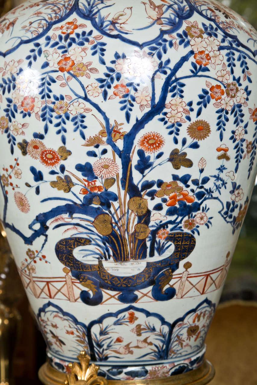 French 17/18th Century Japanese Imari Vase with 19th Century Gilt Bronze Mounts For Sale