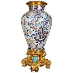 17/18th Century Japanese Imari Vase with 19th Century Gilt Bronze Mounts