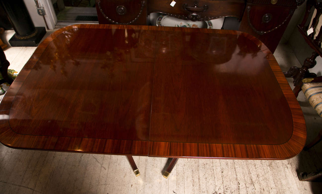 Mahogany  Double Pedestal Dining Table 4