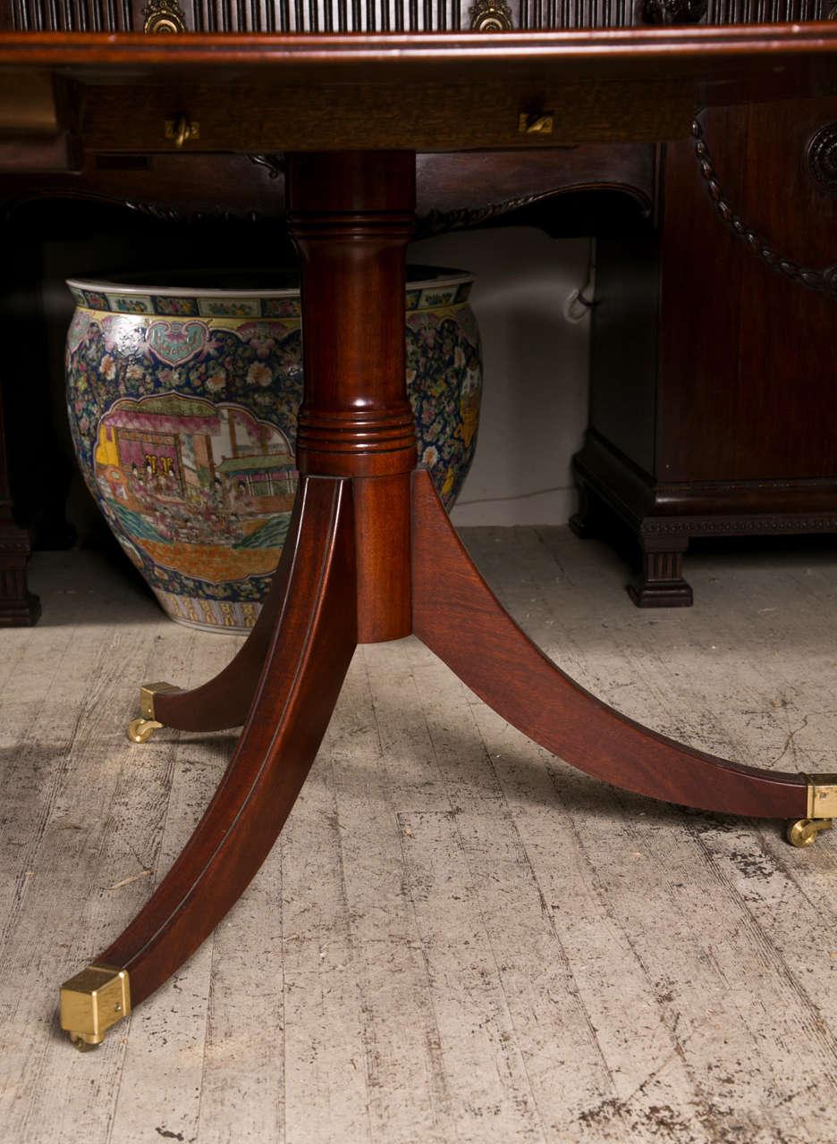 Mahogany  Double Pedestal Dining Table 6