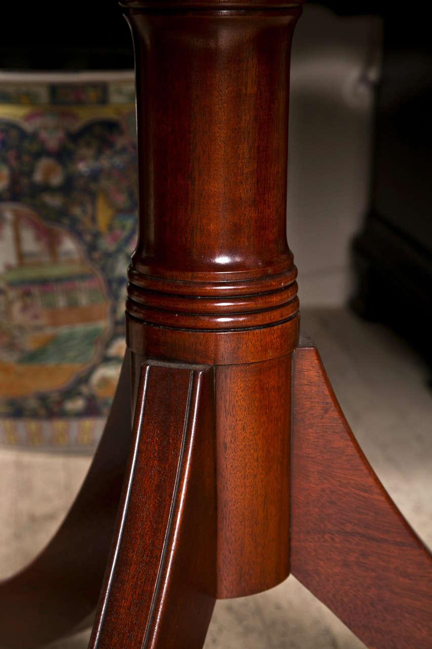 Mahogany  Double Pedestal Dining Table 8
