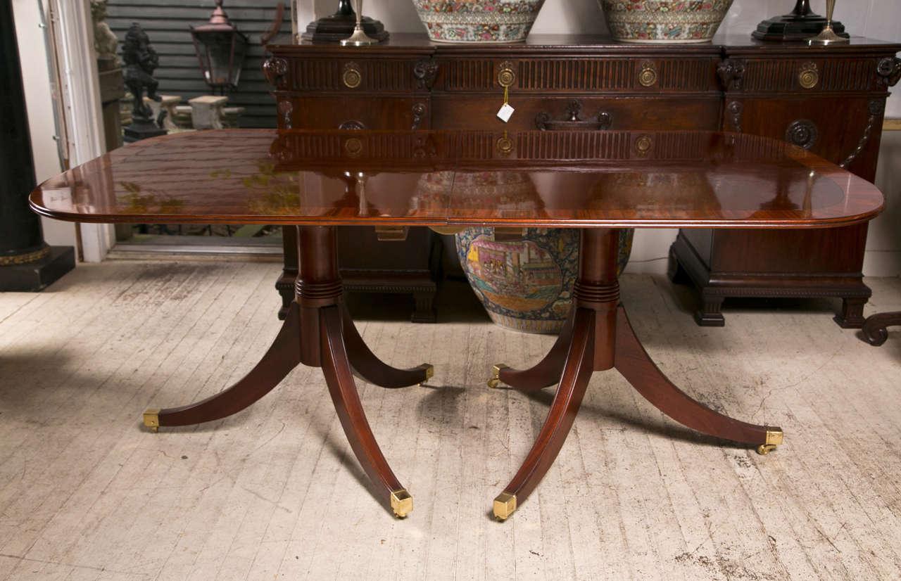 Mahogany  Double Pedestal Dining Table 9