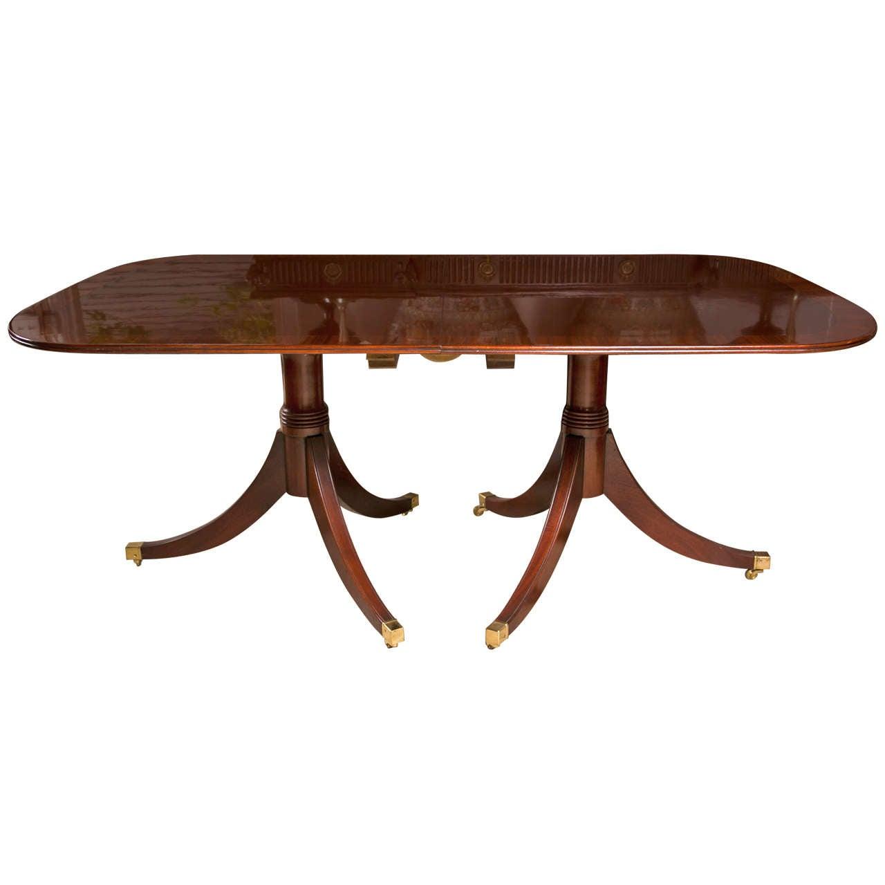 Mahogany  Double Pedestal Dining Table 1