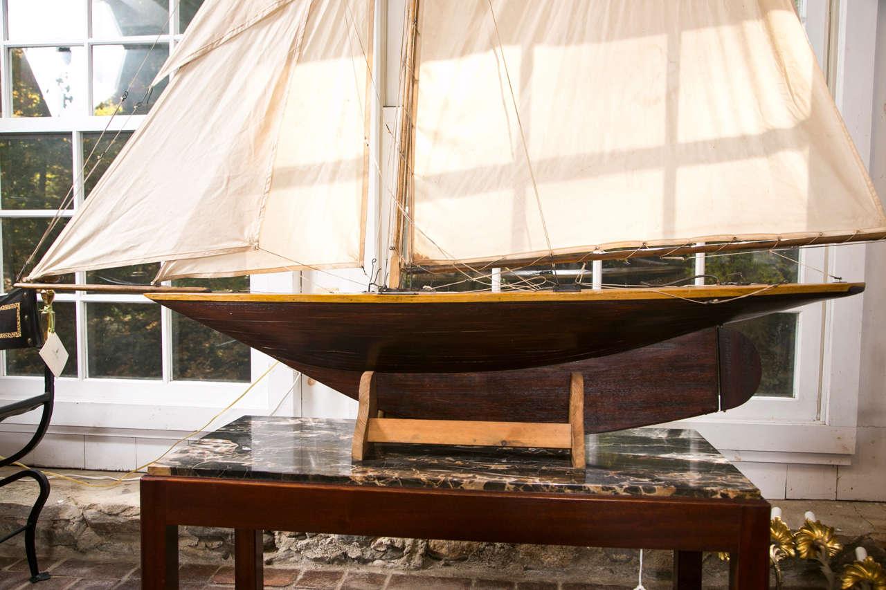 Large Pond Yacht Model For Sale At 1stdibs