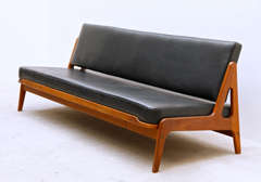arne wahl iversen by komfort teak sofa and daybed at 1stdibs. Black Bedroom Furniture Sets. Home Design Ideas