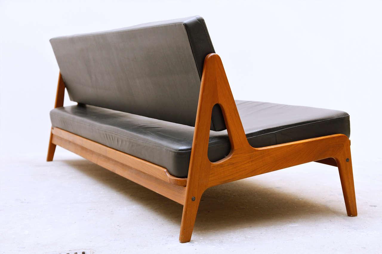 arne wahl iversen by komfort teak sofa and daybed at 1stdibs. Black Bedroom Furniture Sets. Home Design Ideas
