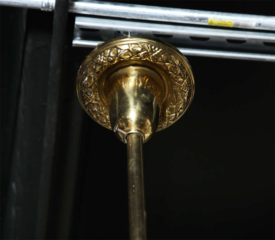 Victorian Antique Brass Light Fixture For Sale 1