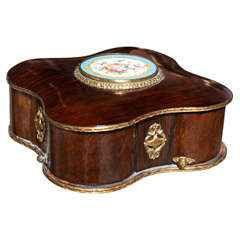 French Sevres Mechanical Jewelry Box
