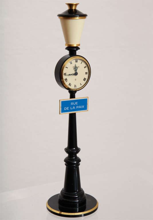 Jaeger-LeCoultre Paris Street Lamp Post Table Clock 2