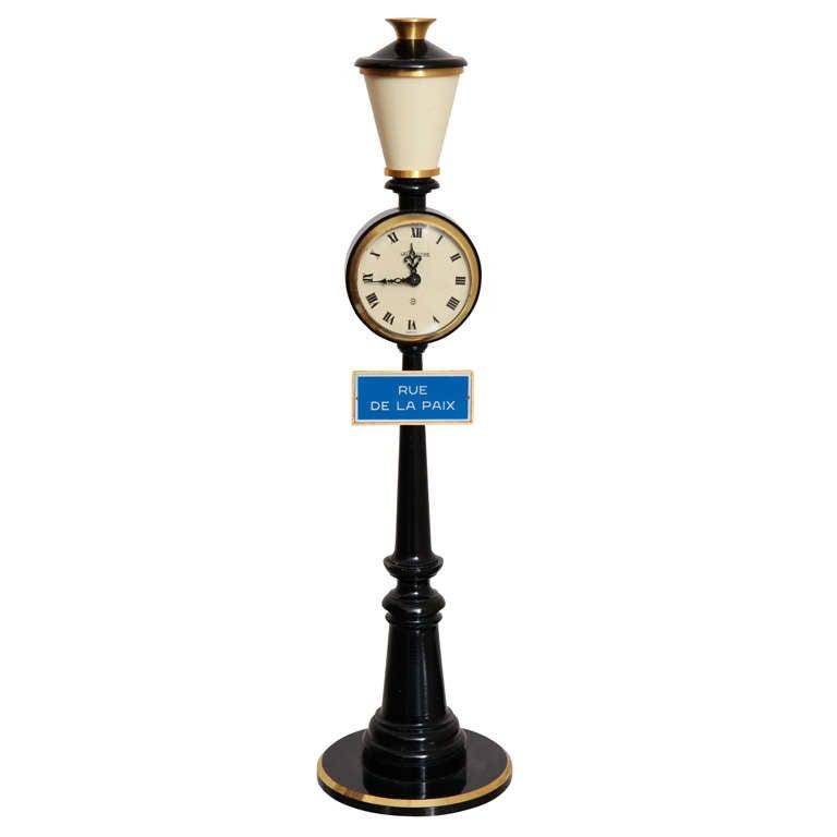 Jaeger-LeCoultre Paris Street Lamp Post Table Clock 1