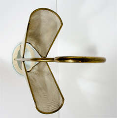 Italian Brass, Perforated Metal and Glass Umbrella Stand image 5