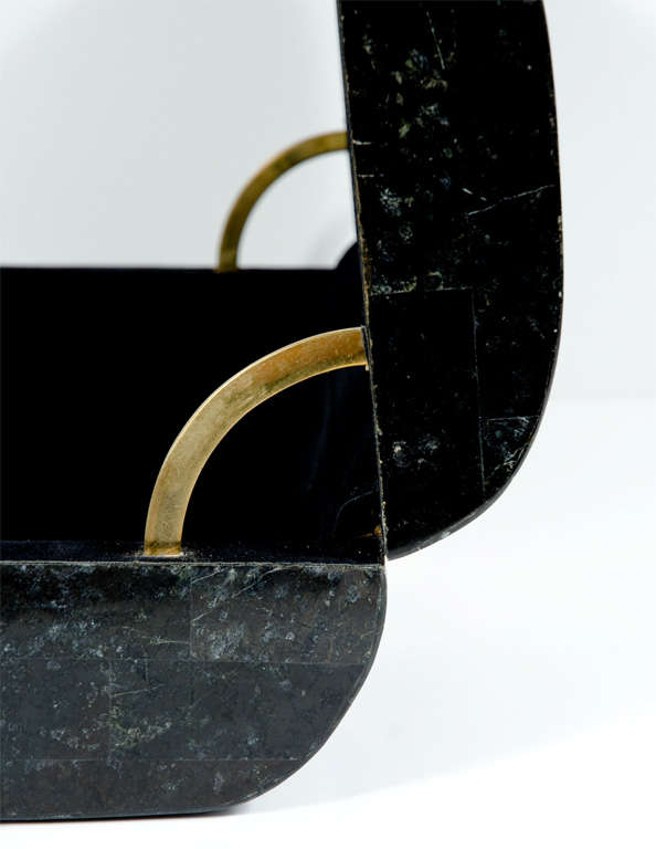 Black & White Stone Veneered Jewelry Box by Maitland-Smith, Ltd. image 2