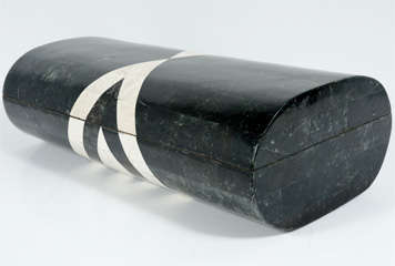 Black & White Stone Veneered Jewelry Box by Maitland-Smith, Ltd. thumbnail 4