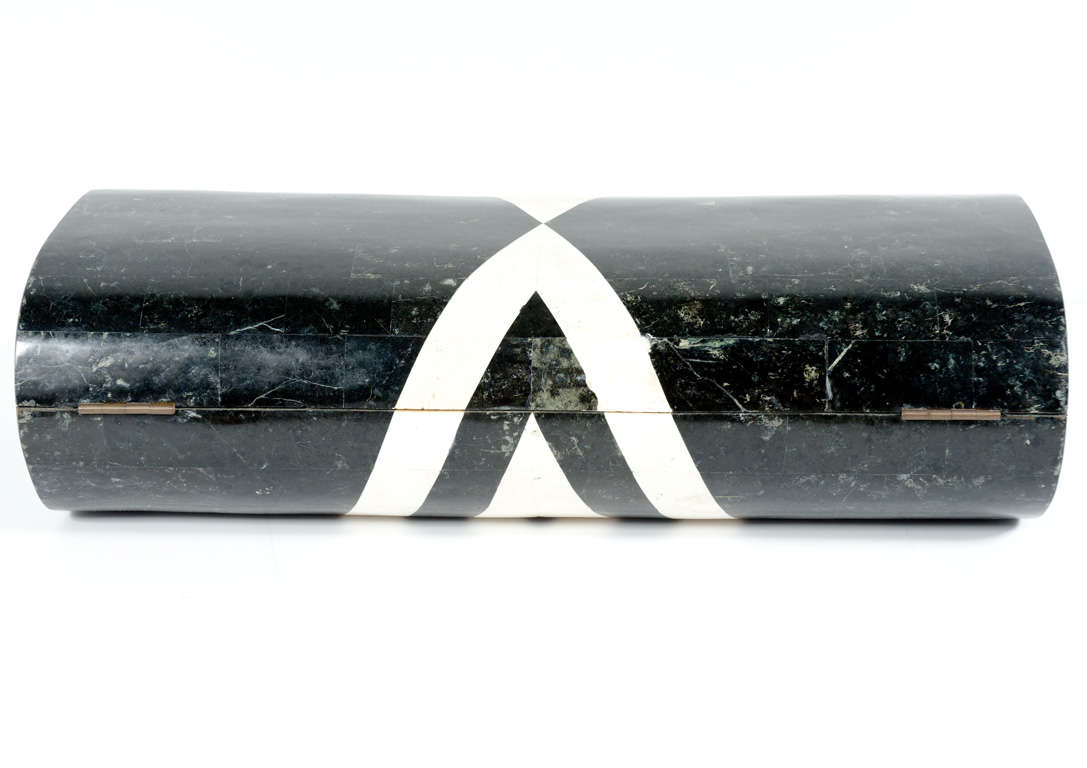 Black & White Stone Veneered Jewelry Box by Maitland-Smith, Ltd. image 5