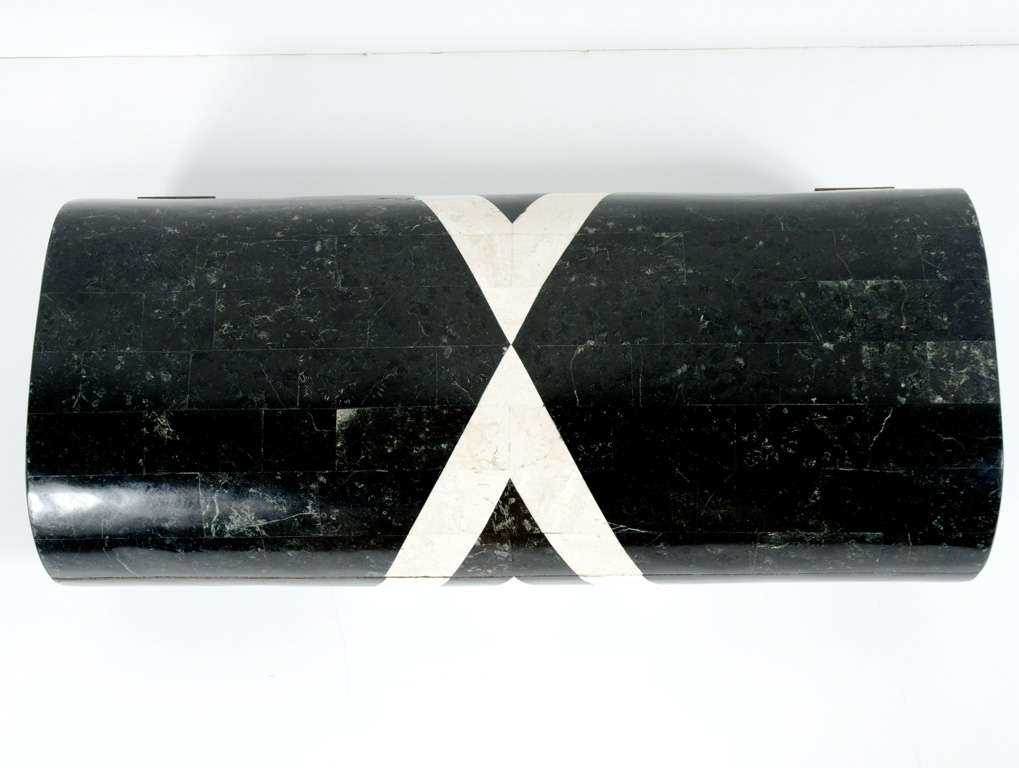 Black & White Stone Veneered Jewelry Box by Maitland-Smith, Ltd. image 6