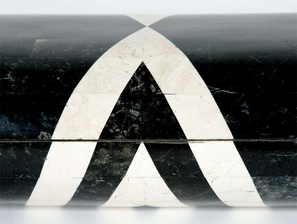 Black & White Stone Veneered Jewelry Box by Maitland-Smith, Ltd. image 8