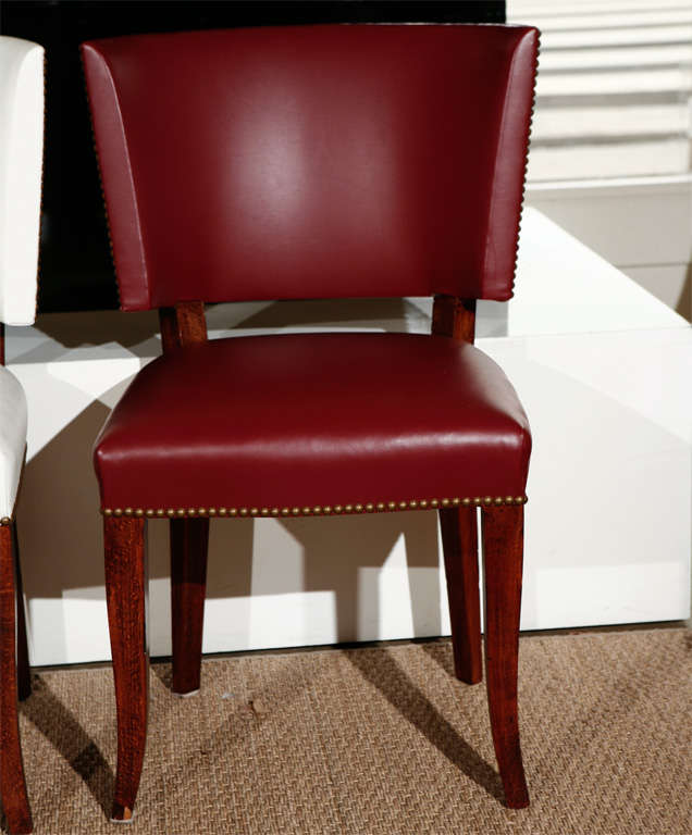 Vintage Leather Dining Chairs set of 10 vintage leather dining chairs at 1stdibs