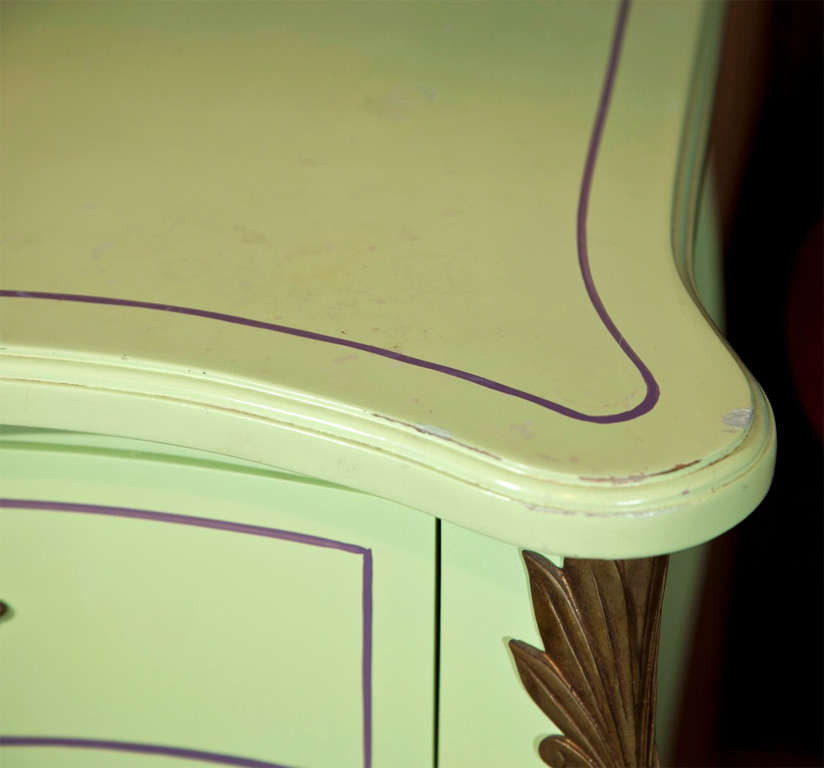 Pair of Chartreuse Commodes In Good Condition For Sale In Stamford, CT