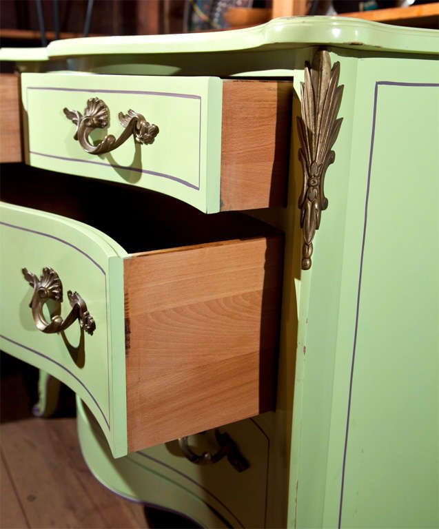 Pair of Chartreuse Commodes For Sale 4