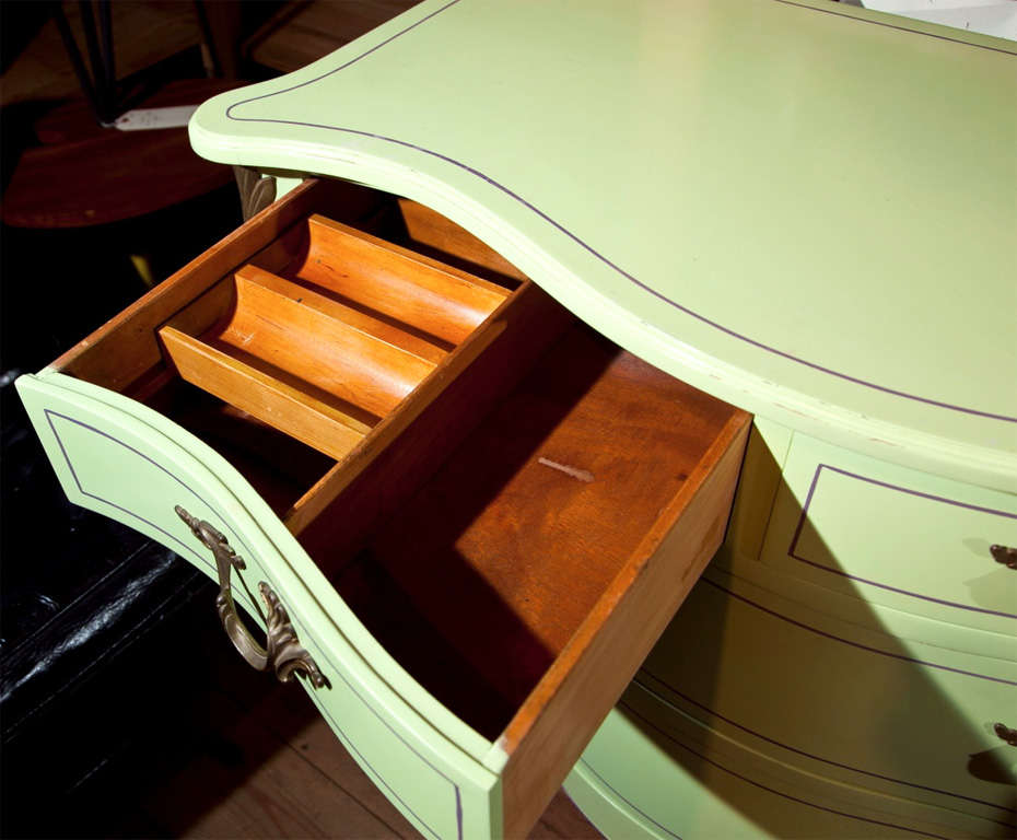Pair of Chartreuse Commodes For Sale 5