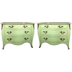 Pair of Chartreuse Commodes