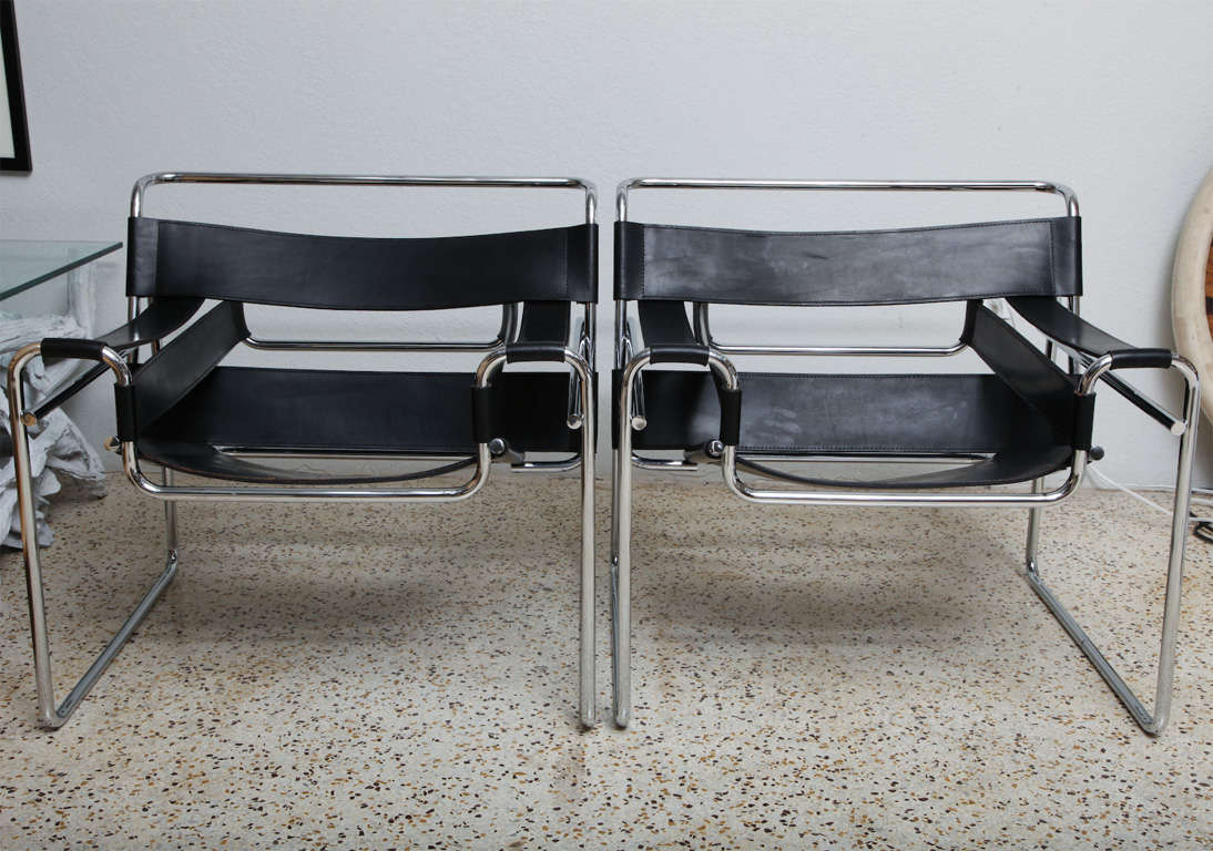 pair of knoll wassily chairs by marcel breuer at 1stdibs. Black Bedroom Furniture Sets. Home Design Ideas