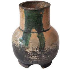 Early 17th Century Edo Japanese Oribe Vase