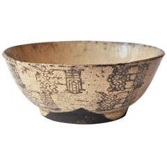 18th Century Rare Japanese Shino Bowl