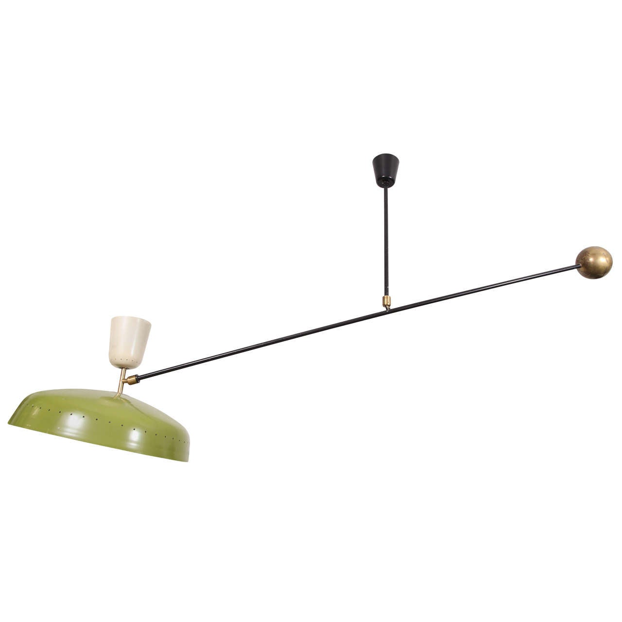 Pierre Guariche Swing Arm Ceiling Fixture For