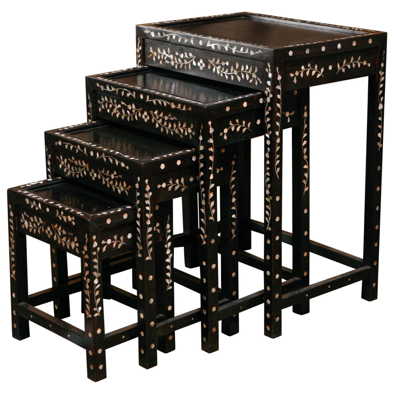 Nesting Tables With Mother Of Pearl Inlay For